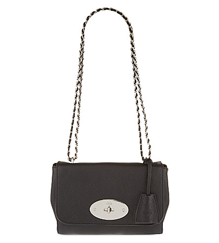 MULBERRY Lily shoulder bag (Black+w+silvertone