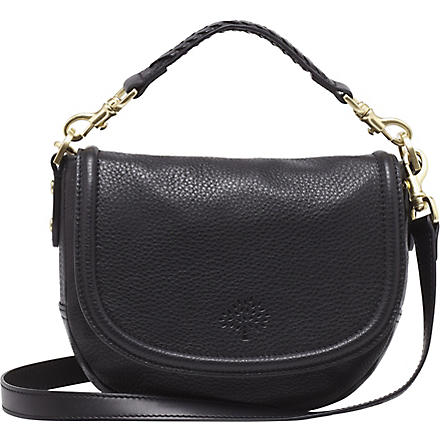 MULBERRY Effie small spongy pebbled leather satchel (Black