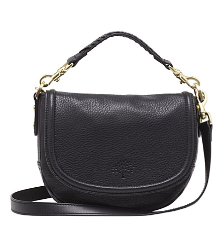 MULBERRY Effie small spongy pebbled-leather satchel (Black