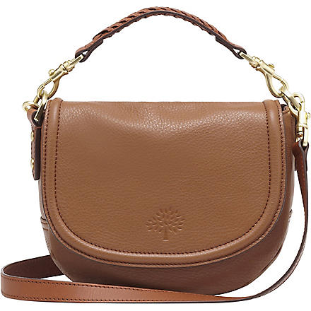 MULBERRY Effie small spongy pebbled leather satchel (Oak