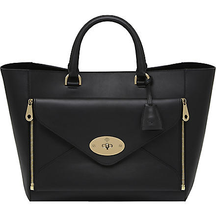 MULBERRY Willow silky calf leather tote (Black