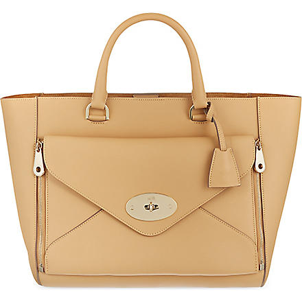 MULBERRY Willow silky calf leather tote (Wheat