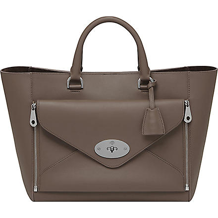 MULBERRY Willow silky calf leather tote (Taupe