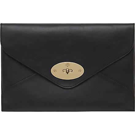 MULBERRY Willow silky calf leather clutch (Black