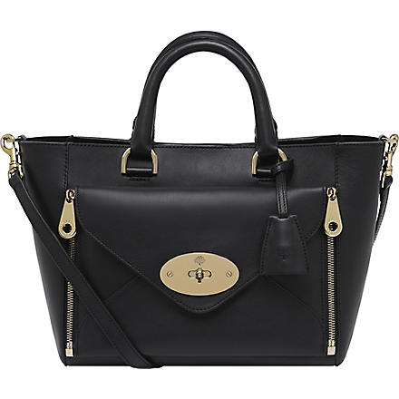 MULBERRY Willow small silky calf leather tote (Black