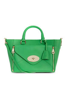 MULBERRY Willow small silky leather tote