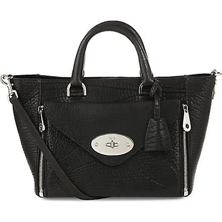 MULBERRY Willow shrunken calf tote (Black-nickel