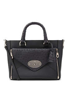 MULBERRY Willow small calf and ostrich mix tote