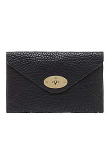 MULBERRY Willow shrunken leather clutch