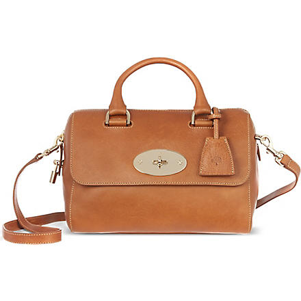 MULBERRY Del Ray natural leather small bowling bag (Oak