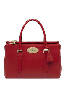 MULBERRY Bayswater double-zip glossy goat leather tote
