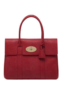 MULBERRY Bayswater textured lizard-print leather tote