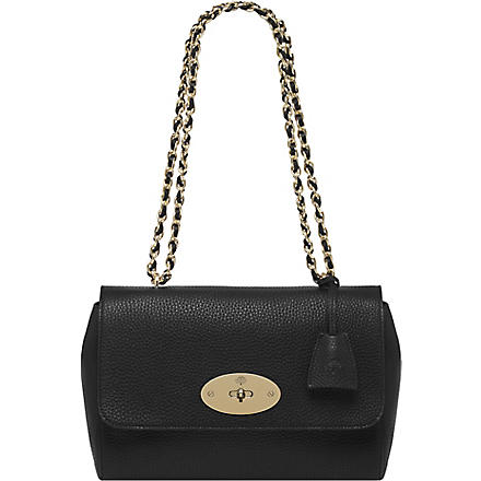 MULBERRY Lily medium soft-grain leather shoulder bag (Black