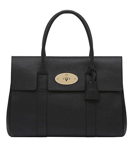 MULBERRY Bayswater soft grain leather handbag (Black