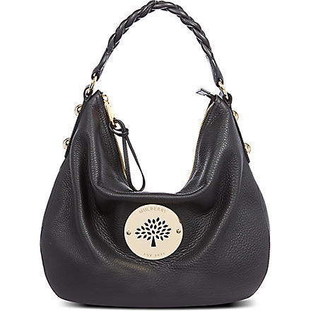 MULBERRY Daria medium spongy leather hobo bag (Black
