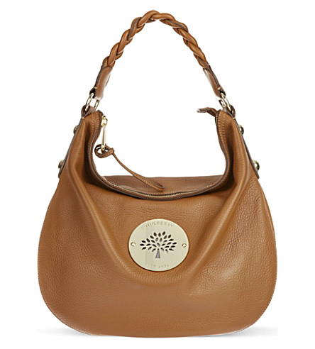 MULBERRY Medium Daria hobo (Oak
