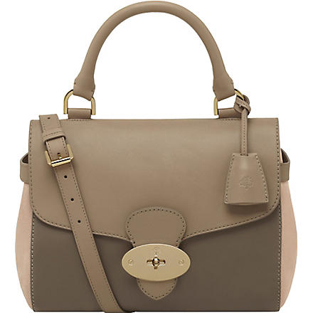 MULBERRY Primrose soft tan leather satchel (Mush/taupe/pink