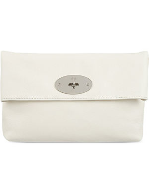 MULBERRY Clemmie glossy goat leather clutch