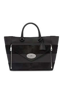 MULBERRY Willow ponyskin stripe tote