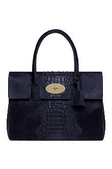 MULBERRY Bayswater croc-stripe handbag