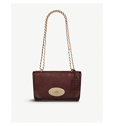 MULBERRY Lily leather shoulder bag (Oxblood