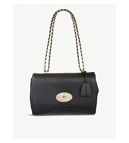 MULBERRY Lily medium leather shoulder bag (Black