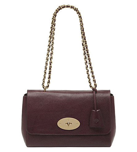 MULBERRY Lily medium leather shoulder bag (Oxblood