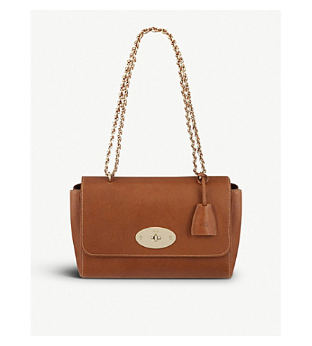 MULBERRY Medium Lily leather shoulder bag (Oak-soft+gold