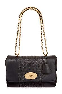 MULBERRY Medium Lily crocodile stripe shoulder bag