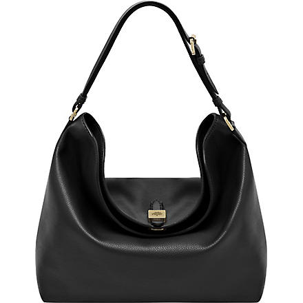 MULBERRY Tessie soft small-grain leather shoulder bag (Black