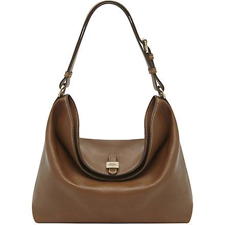 MULBERRY Tessie soft small-grain leather shoulder bag (Oak
