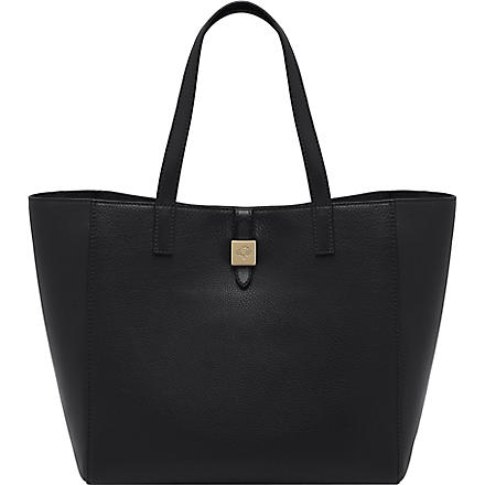 MULBERRY Tessie small soft grain leather tote (Black