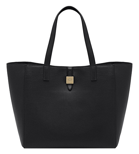 MULBERRY Tessie small soft grain leather tote (Black