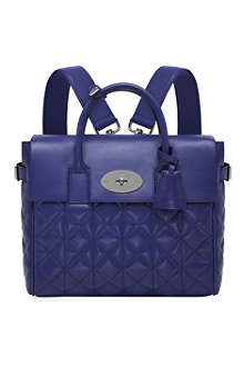 MULBERRY Cara quilted nappa-leather backpack