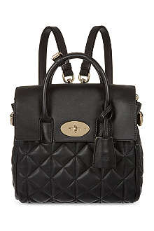 MULBERRY Mini Cara quilted nappa-leather backpack