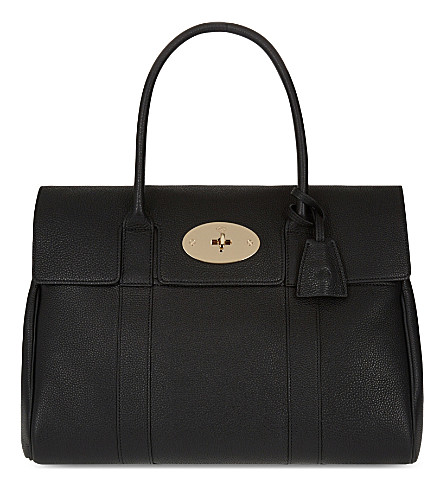 MULBERRY Bayswater small grained leather bag (Black
