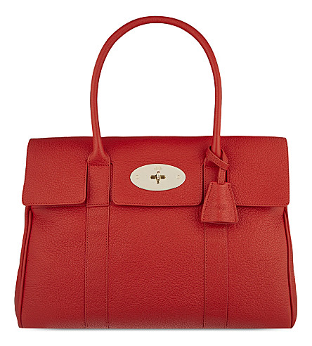 MULBERRY Bayswater small grained leather bag (Fiery spritz