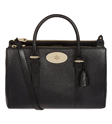 MULBERRY Bayswater small double zip tote (Black