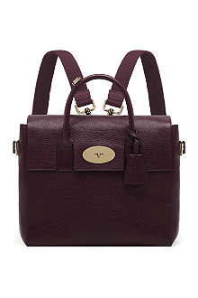 MULBERRY Cara natural-leather backpack