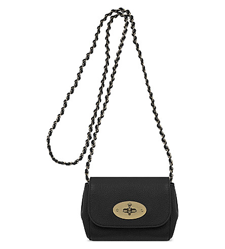 MULBERRY Mini Lily leather shoulder bag (Black