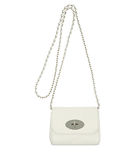 MULBERRY Mini Lily leather shoulder bag (Cream