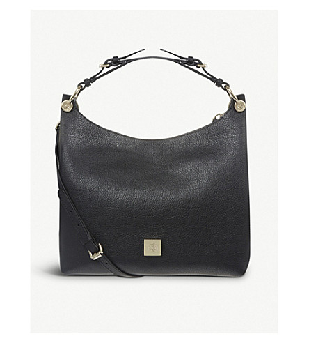 MULBERRY Freya small leather hobo bag (Black