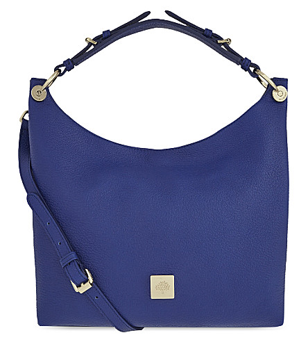 MULBERRY Freya small leather hobo bag (Neon blue