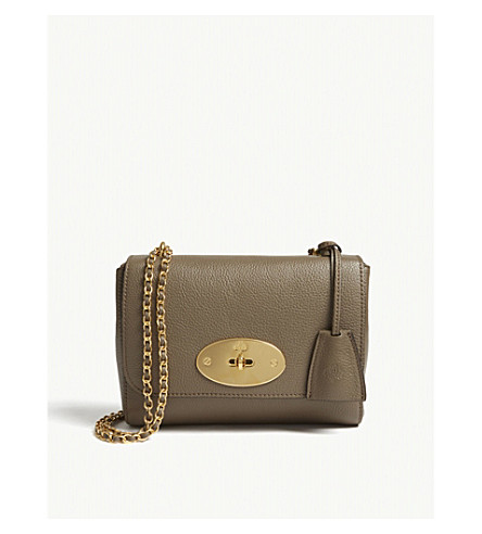MULBERRY Lily small grained leather shoulder bag (Clay