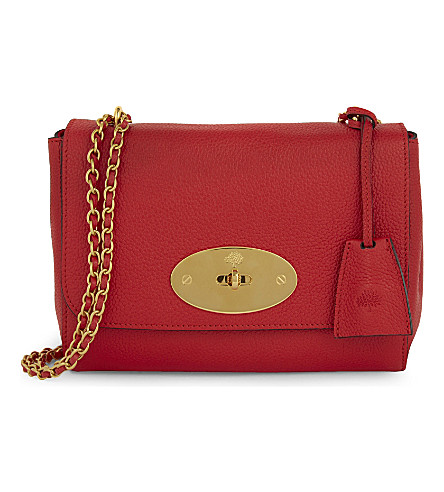 MULBERRY Lily grained leather shoulder bag (Fiery+red