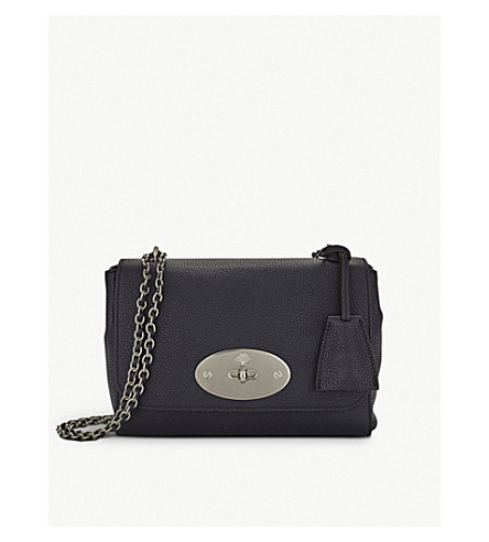 MULBERRY Lily grained leather shoulder bag (Midnight