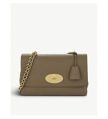 MULBERRY Lily medium grained-leather shoulder bag (Clay