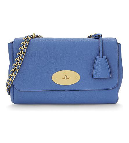 MULBERRY Lily medium leather shoulder bag (Porcelain blue