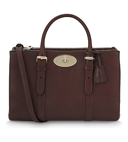 MULBERRY Bayswater double zipper tote (Oxblood