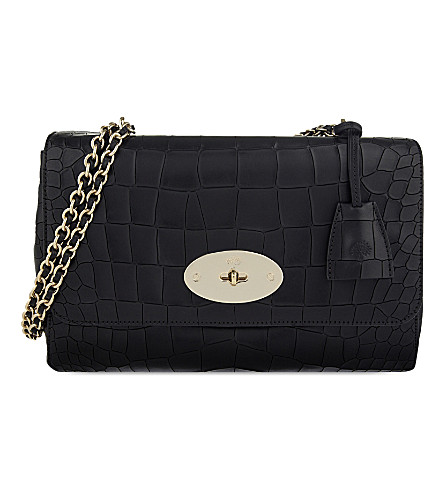 MULBERRY Medium Lily crocodile-effect leather shoulder bag (Black